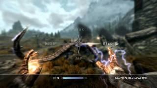 The Elder Scrolls V: Skyrim First Dragon Fight (Direct PC Capture Gameplay) [HD]
