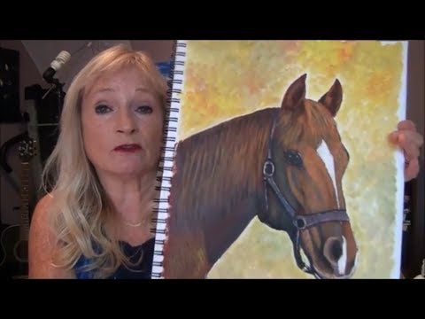 -How to Paint a HORSE with 3 colors Easy Acrylic Painting for Beginners Part 1
