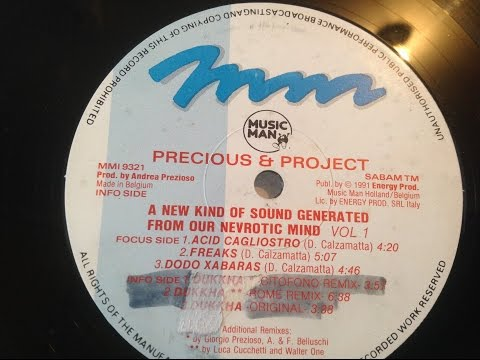 music man precious&project vol [1]ep.[1991] 90s dutch acid techno  belgium techno acid