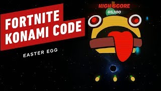 Fortnite: Blackhole Konami Code Easter Egg Gameplay