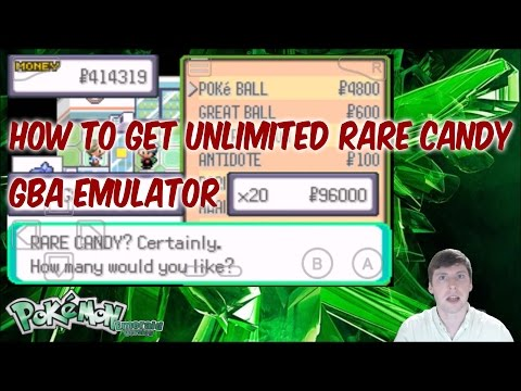 How To Get Unlimited Rare Candy In Pokemon Emerald GBA Emulator Cheat Code
