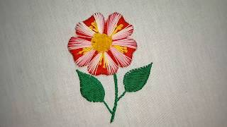 Hand embroidery. Hand embroidery modern flower design for dresses.
