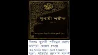 [Bangla] Bukhari Sharif Explanation: Book 76.Kitabur Riqaq by Motiur Rahman (Part 1/20)
