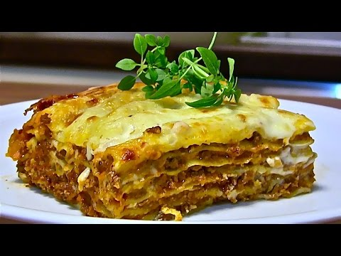 lasagne lasagne bolognese bolognese sauce bechamelsauce selber machen youtube. Black Bedroom Furniture Sets. Home Design Ideas