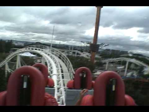 fujin raijin ii 2 roller coaster pov expoland japan youtube