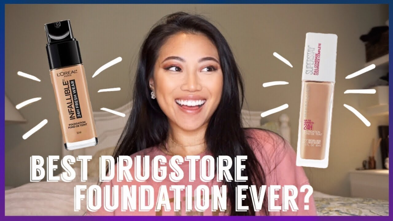 LOREAL 24H FRESHWEAR FOUNDATION VS MAYBELLINE SUPERSTAY REVIEW & Wear Test!