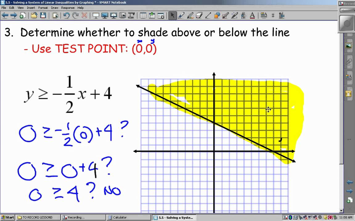Drawing Using Inequality Number Lines : Lesson graphing linear inequalities video