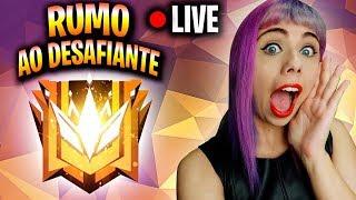 SOLO!!!! RUMO AO DESAFIANTE!!!!! - FREE FIRE AO VIVO