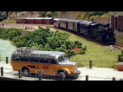 Steam locomotives and diesel trains from Switzerland on the Furka Cogwheel Railway