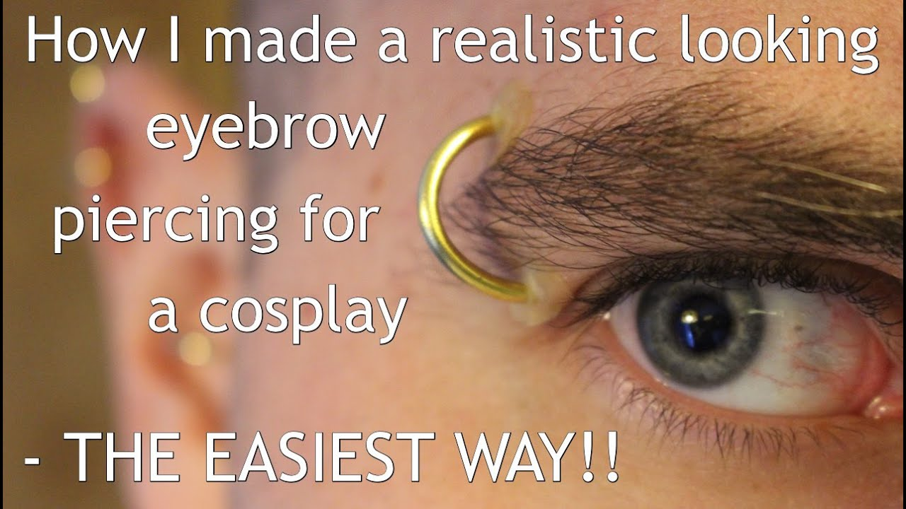 Make A Fake Eyebrow Piercing Looks Amazingly Real Youtube