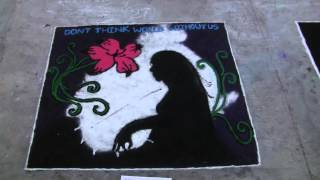 Save Girl child  massage by RANGOLI  from Female students of Engineering PRMIT & R BADNERA AMRAVATI