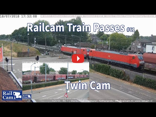 RailCam Train passes on Twin Cam #61
