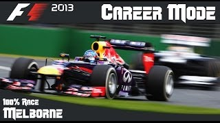 F1 2013 Career Mode - 100% Australian Grand Prix (Melbourne)