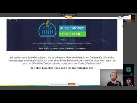 Public Money? Public Code! | Alexander Sander | 98. Netzpolitischer Abend
