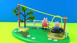 Peppa Pig * Zip Line Playground Playset * Toy Collectable Figures