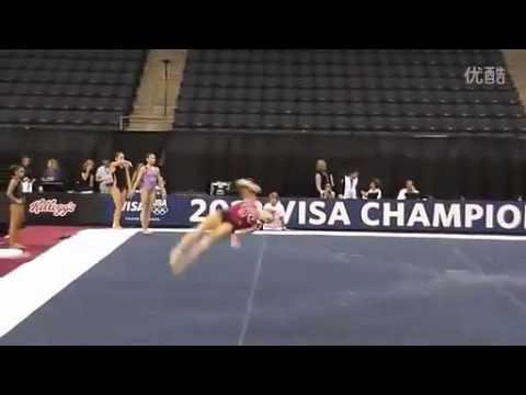 2012年Visa Championships赛台训练 Bridget Sloan 自由操