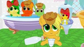 Растим Эплджэк. Карманная пони.  Мультик игра для детей.  My little pony.  дружба это чудо