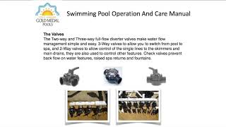 Pool Owner Operations Manual - Understanding How Your Swimming Pool Works | Gold Medal Pools