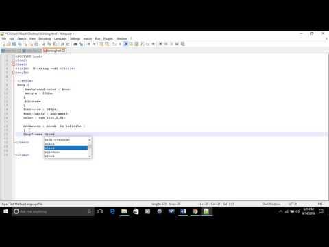 Blinking Text on HTML