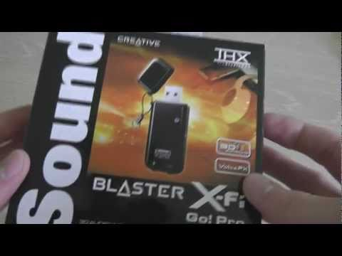 Creative X-Fi Go! Pro USB Soundcard Unboxing & Review