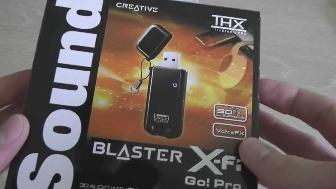 Creative Sound Blaster X-Fi Go! Pro USB Sound Card Audio Drivers Download Free