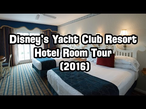 Disney World - Yacht Club Resort Hotel Room Tour (2016)