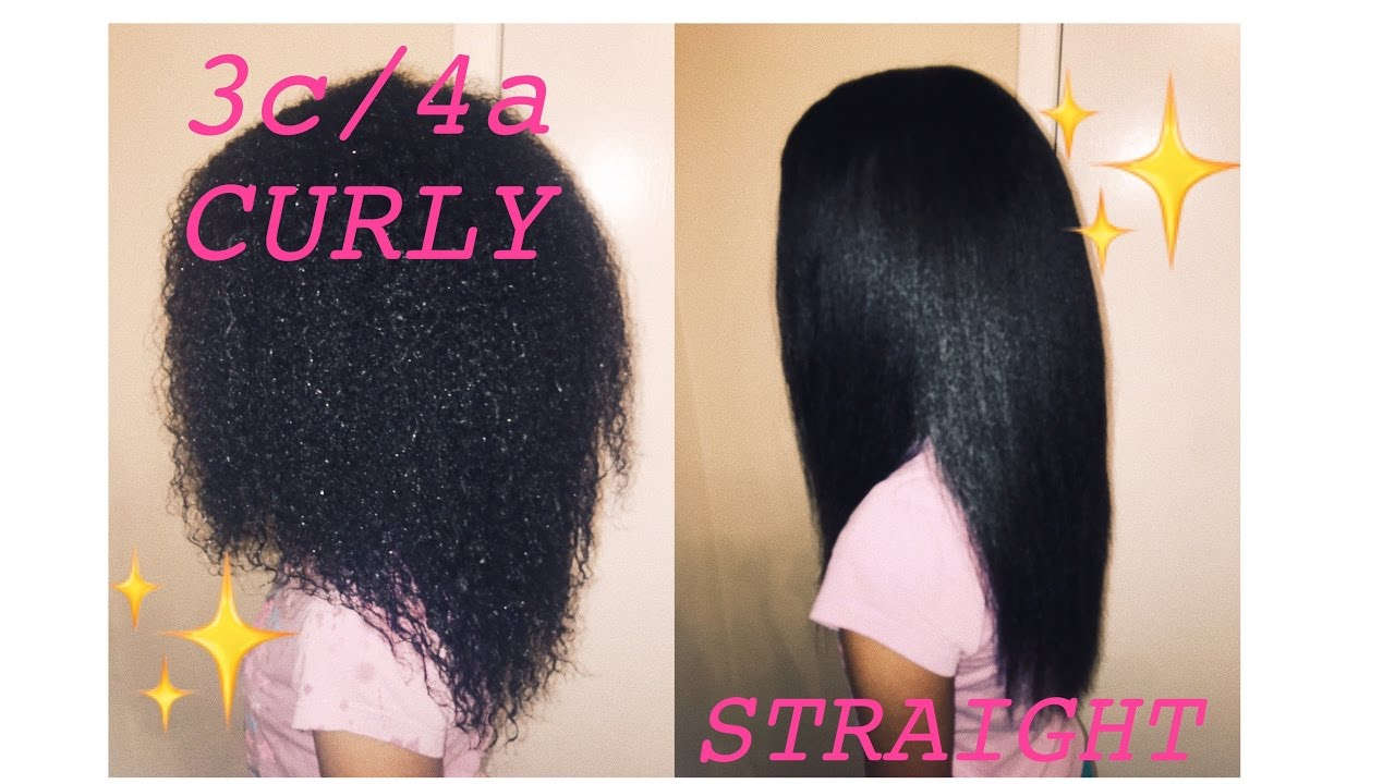 Natural Hair Journey Curly To Straight 3c4a Curly Hair