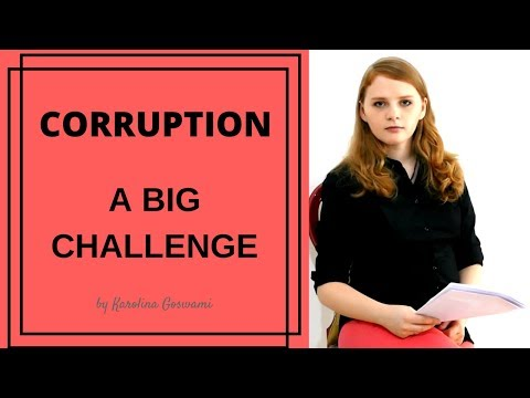 Corruption in India - Karolina Goswami