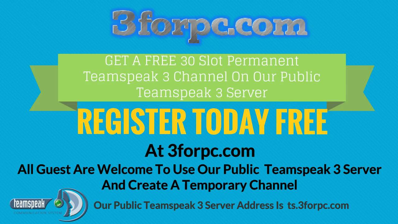 Teamspeak 3 Server Unlimited Slots