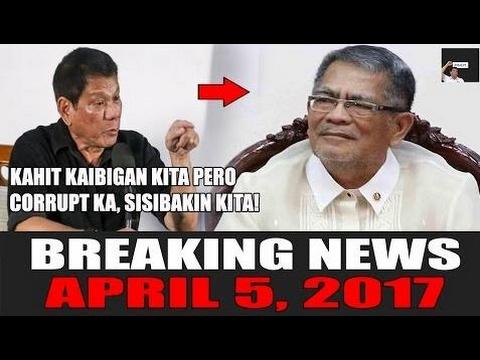 BREAKING NEWS TODAY! APRIL 5, 2017 | DUTERTE SINIBAK ANG ISA SA PINAKAMATAAS NA  - Philippines News