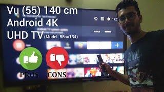 Vu (55SU134) 55inch Official Android 4K UHD TV | Demo | Hindi | 2018
