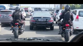 Salut! Konvoi Santun Presiden Jokowi & Para Pengawalnya