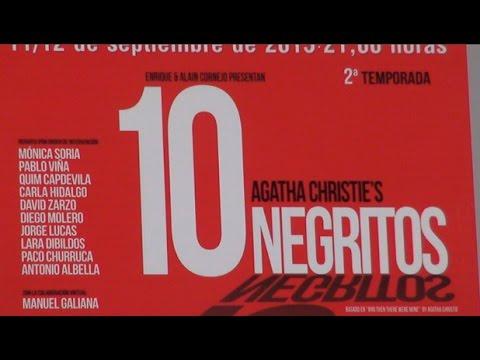 """Cultura retoma la temporada teatral con la intriga de """"Diez Negritos"""""""