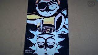 Desenhando Rick e Morty   Drawing Rick and Morty - Evil Version
