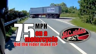WOW! At this frame he was going 75 MPH!