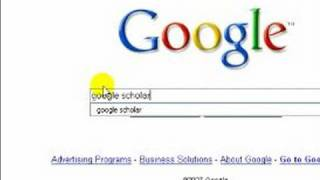 How to Use the Google Search Engine : How to Use Google Scholar
