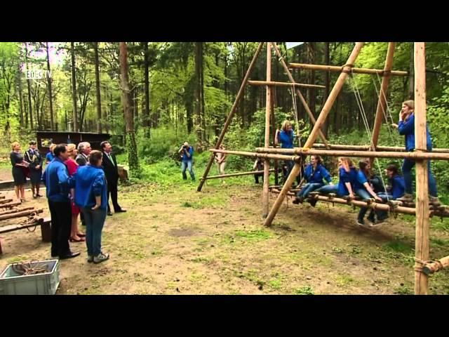 Maxima bezoekt scouting Lunteren (EDE TV nieuws 28-04-2014)