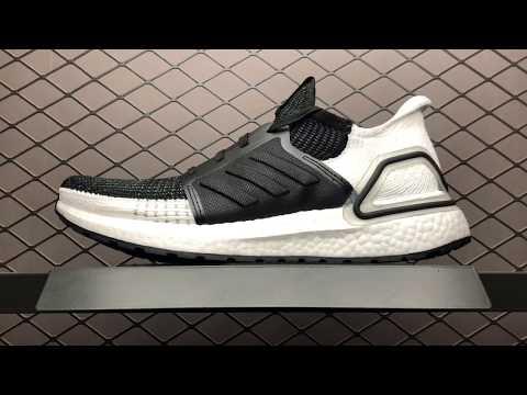 d24f5f667  49 Adidas Ultra Boost 19 5.0 UB5.0 B37704 White Black Mens