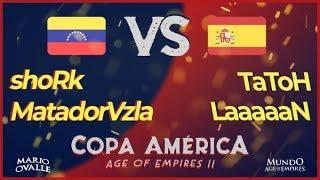 ESPAÑA VS VENEZUELA CUARTOS DE FINAL COPA AMERICA AGE OF EMPIRES 2