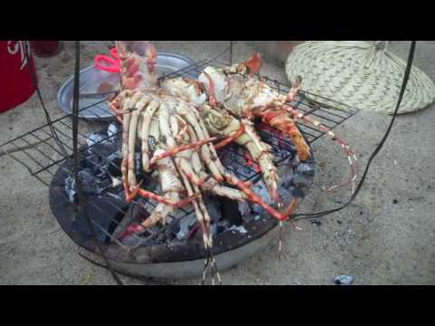 Lobster dinner on Nha Trang beach