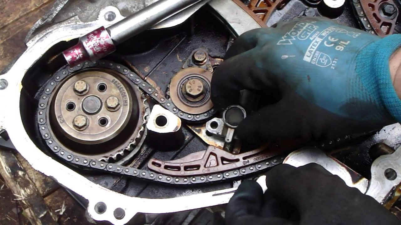 How To Do Timing Chain Tensioner Check And Replace Gm Ecotech Engine On All Engines Except Vtec The Belt Adjuster Arm Must Be Locked In