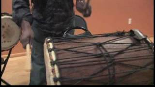 How to Play African Drums : Doundoun Drum Beats for Kuku Rhythm