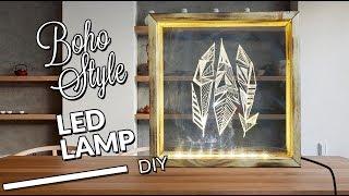 DIY boho style led lamp