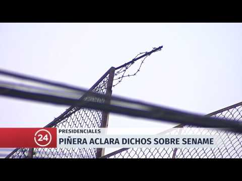 Sebastian Piñera aclara polémicos dichos sobre el Sename