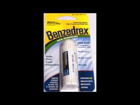 amphetamin in a nasal inhaler
