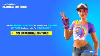 FORTNITE NEW PARENTAL CONTROLS REWARDS! HOW TO ENABLE FORTNITE PARENTAL CONTROLS! FORTNITE REWARDS