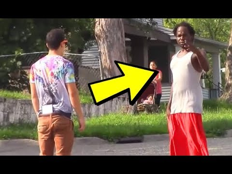 BEATING UP BIG THUGS IN THE HOOD!🤬 (FUNNY PRANKS 2019)
