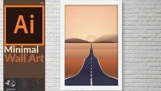 Making a Artwork with Basic Shapes in Adobe illustrator | Flat design with gradients