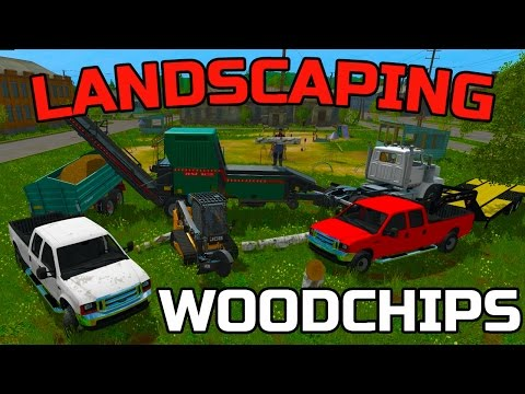 FARMING SIMULATOR 2017 | MULTIPLAYER LANDSCAPING | PRODUCING WOOD CHIPS | FORD MOD