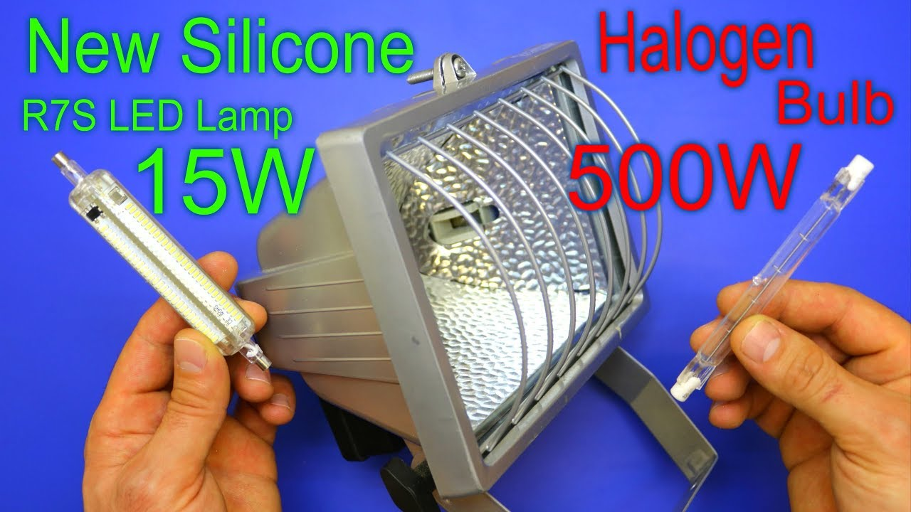 Saves Energy By Replacing The Old Halogen Bulb With The New Silicone R7s Led Lamp Youtube